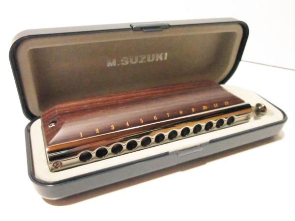 SUZUKI/スズキ G-48W 木製カバーモデル グレゴア・マレ シグネチャーモデル 12穴クロマチックハーモニカ【選択】【P2】