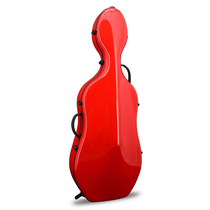 Flankfurt Musikmesse 2008 でオリジナルケースを発表 それ以来数多くラインナップされています チェロケース CROSSROCK CRF1000CEF 本物 別倉庫からの配送 with Cello レッド 4 Red☆クロスロック wheels RD