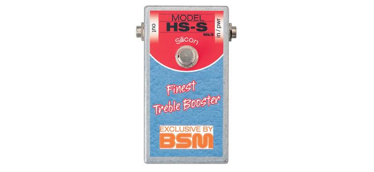 【お取寄商品】【正規品】BSM HS-S ミドルゲイン・トレブルブースター リッチー・ブラックモア「マシン・ヘッド」の音を再現【P2】