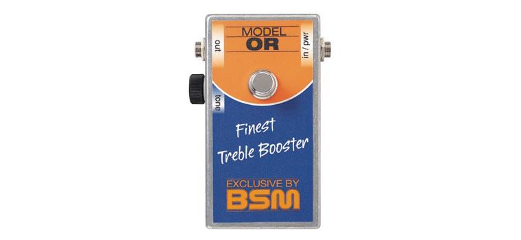 お取寄商品 正規品 激安格安割引情報満載 BSM マート OR ミドルゲイン トレブルブースター Boosterを再現 Treble P2 Bass Orange