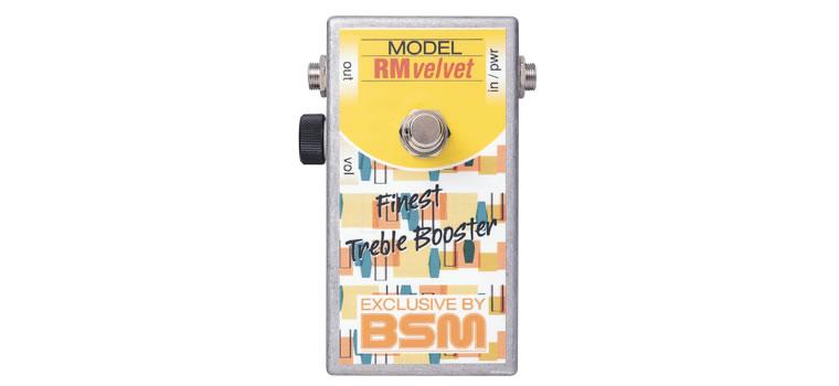 【お取寄商品】【正規品】BSM RM Velvet ミドルゲイン・トレブルブースター Range Masterを再現、OC76使用【P5】