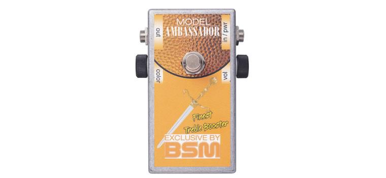 【お取寄商品】【正規品】BSM Ambassador ハイゲイン・トレブルブースター 既存のモデルとは異なるトレブル&ミッド・ゲルマニウム・ブースター【P2】