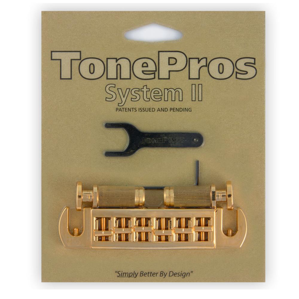 TonePros ブリッジ AVT2P-G TonePros Wraparound Set w/SPRS2 Locking Studs for PRS【smtb-KD】