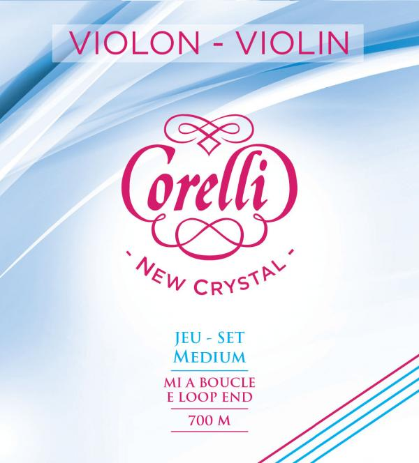 フランスのサバレス社製 VIOLIN String バイオリン弦 サバレス社 コレルリ 直輸入品激安 ニュークリスタル ミディアム 700MB ループエンドorボールエンド 店 CRYSTAL SAVAREZ CORELLI バイオリンセット弦700M NEW