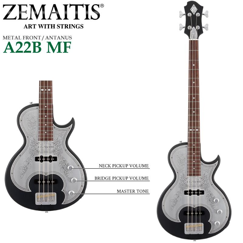 ZEMAITIS(ゼマイティス) A22B MF Black(ブラック) METAL FRONT / ANTANUS メタルフロント/エレキベース
