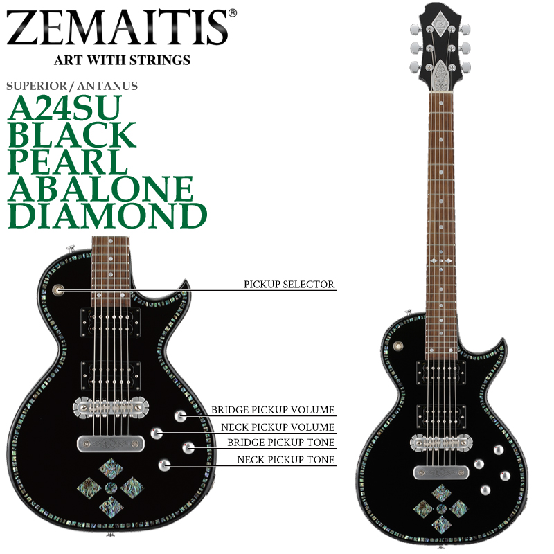 ZEMAITIS(ゼマイティス) A24SU BLACK PEARL ABALONE DIAMOND/SUPERIOR / ANTANUS / スペリア/エレキギター