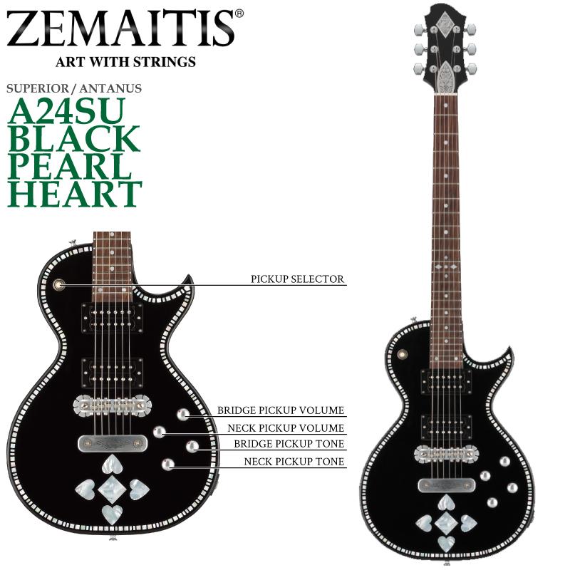 ZEMAITIS(ゼマイティス) A24SU BLACK PEARL HEART/SUPERIOR / ANTANUS / スペリア/エレキギター