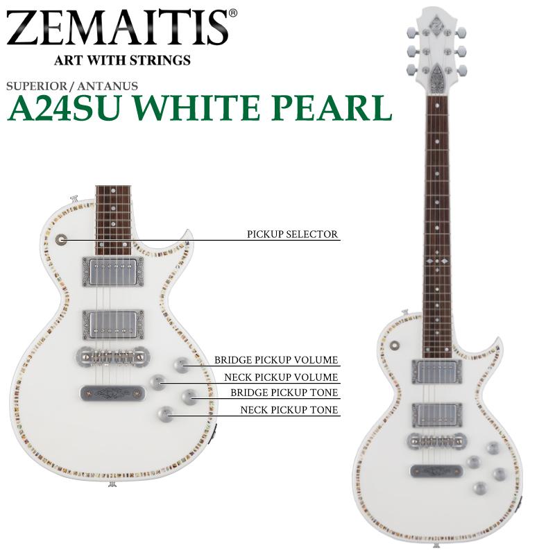 ZEMAITIS(ゼマイティス) A24SU WHITE PEARL/SUPERIOR / ANTANUS / スペリア/エレキギター