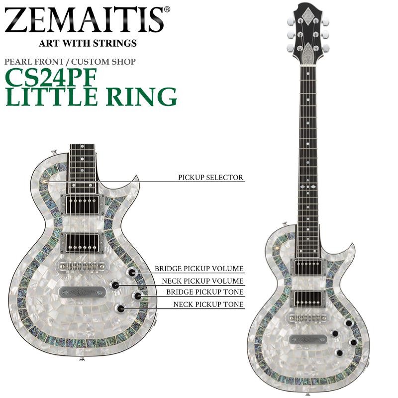 ZEMAITIS(ゼマイティス) CS24PF LITTLE RING Natural(ナチュラル) / PEARL FRONT / CUSTOM SHOP パールフロント・カスタムショップ/エレキギター