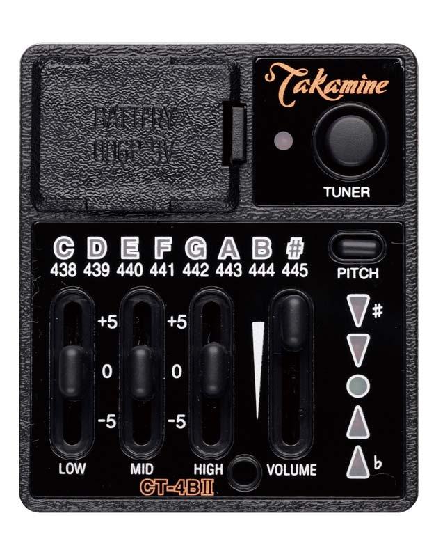 TAKAMINE(高峰ギター)プリアンプ CT-4BII(PTU) プロユースに対応するサウンドクオリティー Preampシリーズ/タカミネ/高峰楽器