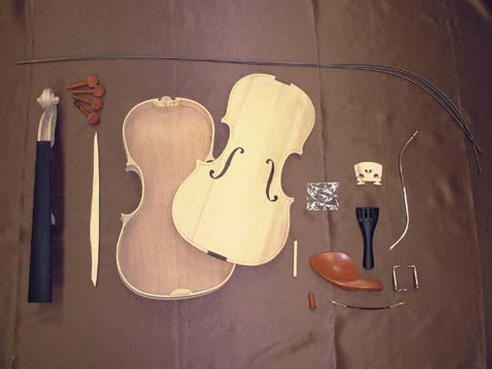 【自由工作にも最適!】HOSCO V-KIT-1 ヴァイオリン/バイオリン 組立キット スプルース単板/メイプル単板【楽ギフ_包装選択】