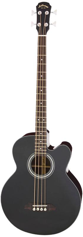 Aria Dreadnought AB-295/BK ブラック Acoustic Bass(アコースティック・ベース) エレアコベース アリアドレッドノート アリドレ【送料込】【smtb-KD】【P5】