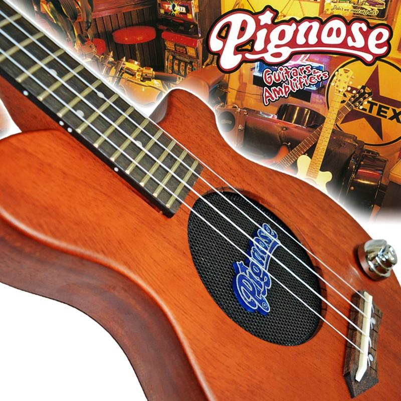 Pignose/ピグノーズ アンプ内蔵コンサートウクレレ PGU200MH マホガニボディー&ピエゾピックアップとウクレレ用にチューニング/PGU-200MH