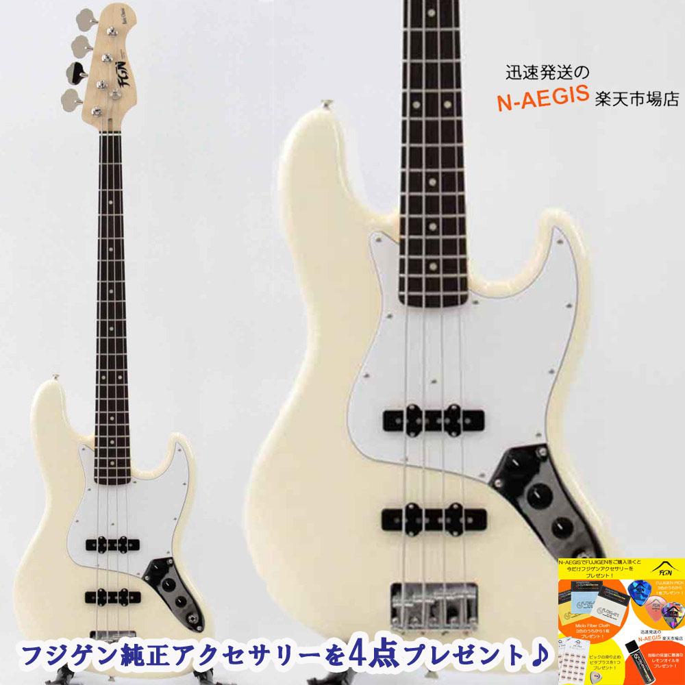 ベース ホワイト 白 フジゲン ジャズベ タイプ BCJB10RBD-VWH/01 ベースギター FUJIGEN ジャズベースタイプ【P2】