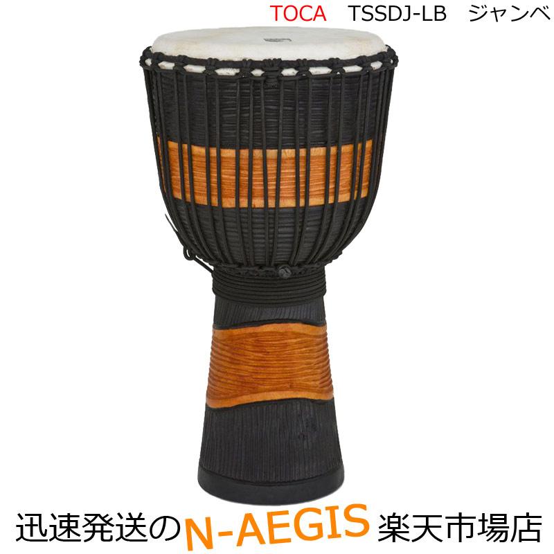 TOCA/トカ ジャンベ TSSDJ-LB☆マホガニー胴手彫り 本皮ロープジャンベ 12インチ Percussion パーカッション【P2】