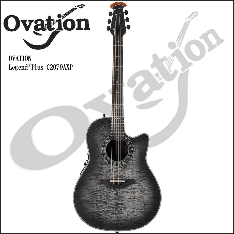 Ovation Custom Legend Plus C2079AXP 5S/Quilted Maple Top Satin Transparent Black Finish【P2】