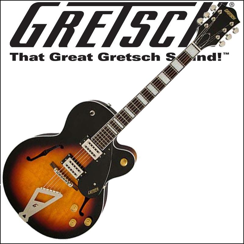 【正規品で安心♪♪】GRETSCH G2420 Streamliner Hollow Body with Chromatic II Tailpiece Aged Brooklyn Burst グレッチ(エレキギター)ストリームライナー・コレクション【P5】