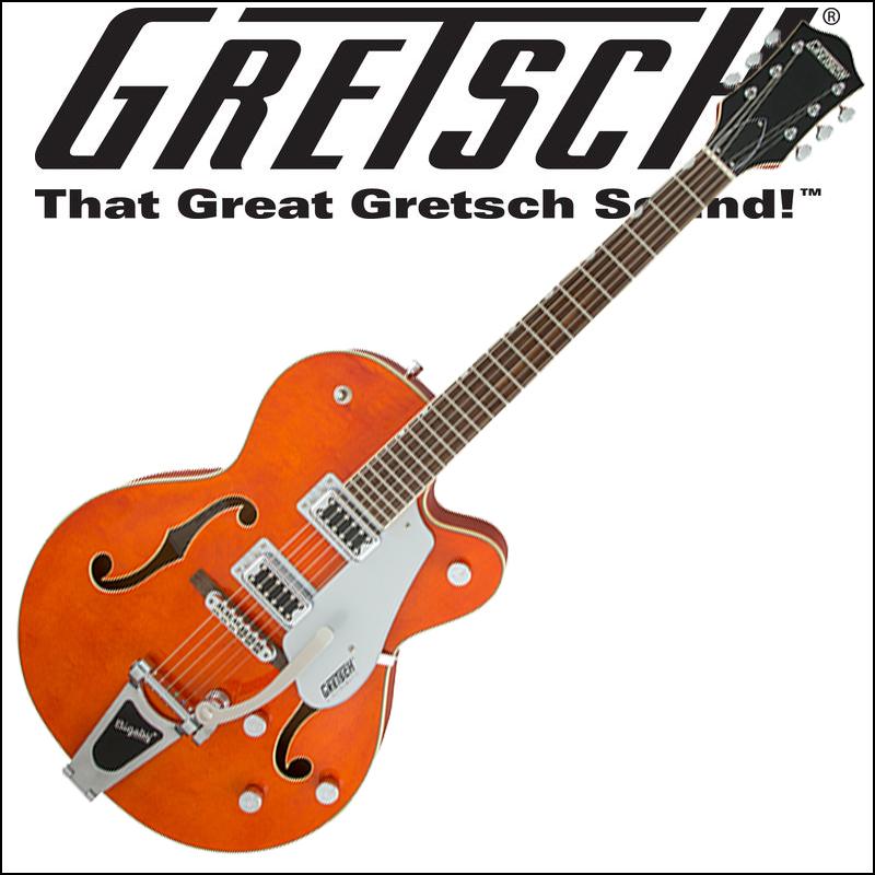 【正規品で安心♪♪】GRETSCH G5420T Electromatic Hollow Body Single-Cut with Bigsby Orange Stain (エレキギター)【P5】