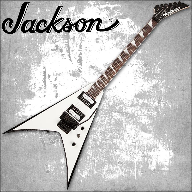 【正規品で安心♪♪】JACKSON JS32 KING V White with Black Bevels (エレキギター)【P2】