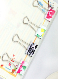 DCMR 文具 12個 セット 花柄 フルーツ 本物◆ 模様 の オシャレ クリップ メーカー再生品 中 ダブル を 華やかに 周り 2cm デスク 1cm