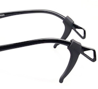DCMR ブラック 安全 メガネ の 耳 眼鏡 高級品 字 L 落下防止 フック 耳かけ
