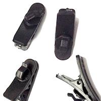 DCMR 4個 セット ブラック キャンペーンもお見逃しなく イヤホン クリップ 固定 太 ケーブル タイプ 掛け シュア マルチ 携帯 回転 対応 記念日 SUARE