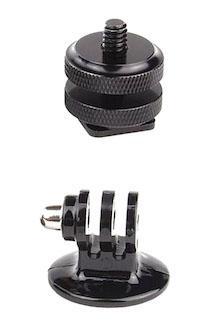 DCMR カメラ GoPro 用 ホット シュー 蔵 ねじ 三脚 セット 固定 ネジ 現金特価 マウント