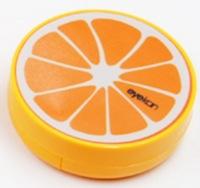 DCMR オレンジ1点 コンタクト レンズ キット オイル ケース 鏡 ピンセット 定番キャンバス に 引き出物 旅行 風 便利 フルーツ 果物 スタイリッシュ デザイン 携帯