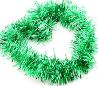 DCMR クリスマス グリーン リース キラキラ パーティー 受賞店 モール 爆売りセール開催中 幅8CM 飾り フリフリ ボリューム感 1点 長2M Lサイズ