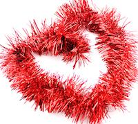 DCMR クリスマス レッド リース 公式サイト キラキラ パーティー モール 飾り フリフリ 幅8CM 1点 長2M Lサイズ ボリューム感 お求めやすく価格改定