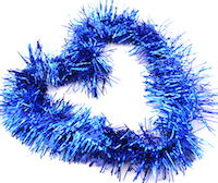 DCMR クリスマス ブルー リース お得なキャンペーンを実施中 キラキラ パーティー モール 幅8CM Lサイズ ボリューム感 長2M フリフリ 1点 飾り 信憑