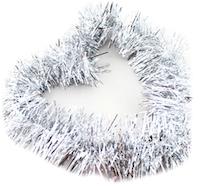 DCMR クリスマス リース シルバー Lサイズ 宅配便送料無料 メーカー在庫限り品 幅8CM 長2M キラキラ フリフリ モール 飾り 1点 ボリューム感 パーティー