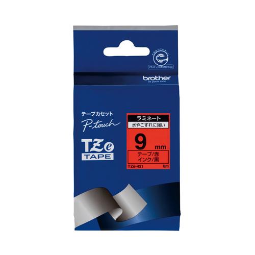 15:00迄の在庫商品のご注文分は最短で当日出荷 ブラザー AC ピータッチテープ 9mm赤 黒TZE-421 おすすめ 正規品送料無料 TZE421