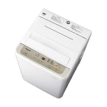 15:00迄の在庫商品のご注文分は最短で当日出荷 パナソニック【Panasonic】5kg 全自動洗濯機 NA-F50B12-N(シャンパン)★【NAF50B12N】