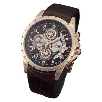 15:00迄の在庫商品のご注文分は最短で当日出荷 サルバトーレマーラ 腕時計 本店 SM トリックマスタークロノグラフ SM13119S-PGBK 正規品 革ベルト 贈答