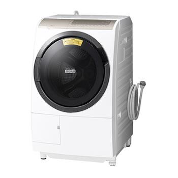 15:00迄のご注文で最短当日出荷 在庫商品に限る 日立 代引 日時指定不可 洗濯11kg 乾燥6kg SALE開催中 BD-SV110FL-W 左開き ビッグドラム ドラム式洗濯乾燥機 10%OFF