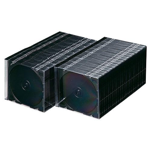 15:00迄の在庫商品のご注文分は最短で当日出荷 サンワサプライ SanwaSupply DVD 高級な FCD-PU100MBK マットブラック 日本製 CDケース FCDPU100MBK