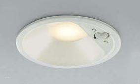 コイズミ LED人感センサー付 防雨型ダウンライト AD41913L (電球色)(埋込穴φ125)