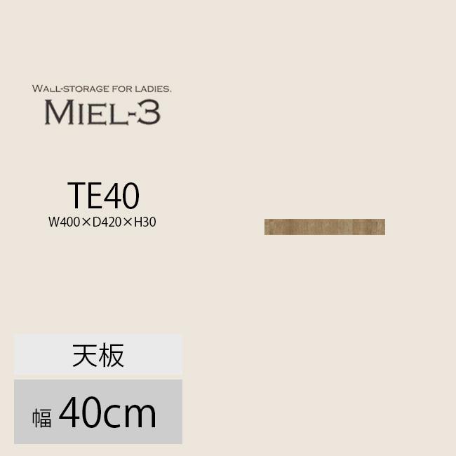 【送料無料】 すえ木工 Miel-3 40-TE 天板 壁面収納 W400 D420 H30