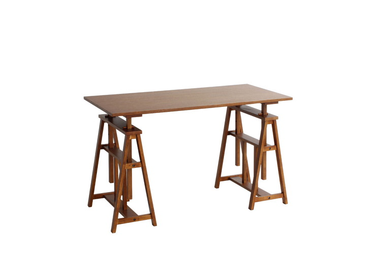 hommage Atelier Table HMT-2665BR(ブラウン) W 1200×D 600×H 640(725、785、845、905)mm 【市場】【送料無料】