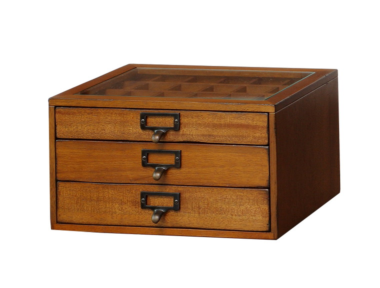 mope collection chest MOK-2523BR(ブラウン) W 335×D 245×H 190mm 【市場】【送料無料】