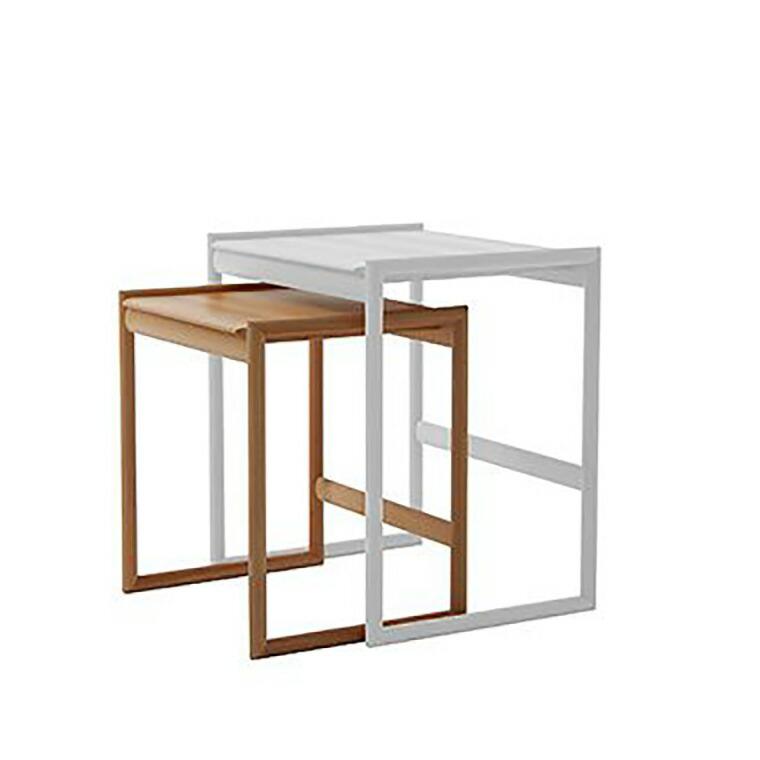 日進木工 アクセント ac-cent ネストテーブル NEST TABLE(小) NK-302-B W400×D330×H420mm