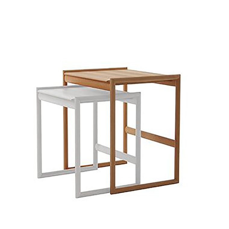 日進木工 アクセント ac-cent ネストテーブル NEST TABLE(大) NK-312-B W460×D370×H490mm 【送料無料】