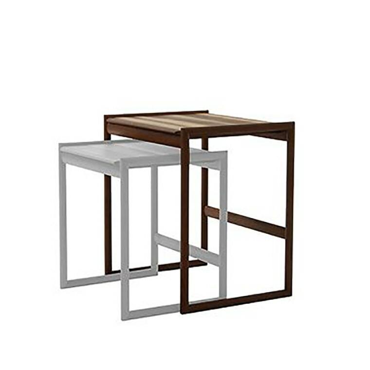 日進木工 アクセント ac-cent ネストテーブル NEST TABLE(大) NK-312-W W460×D370×H490mm