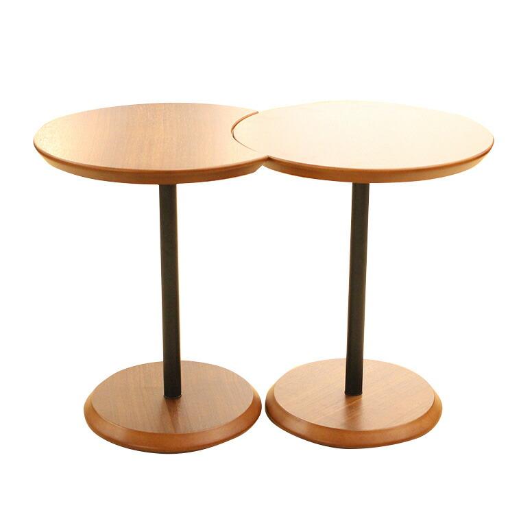 パクラ サイドテーブル セット (WAL) W400×D400×H470mm