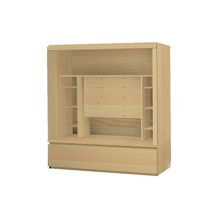 マテリア3 壁面収納 TVボード TM D42/32 160-OVT W1600×H1690×D420/320mm 【すえ木工】【Materia3】