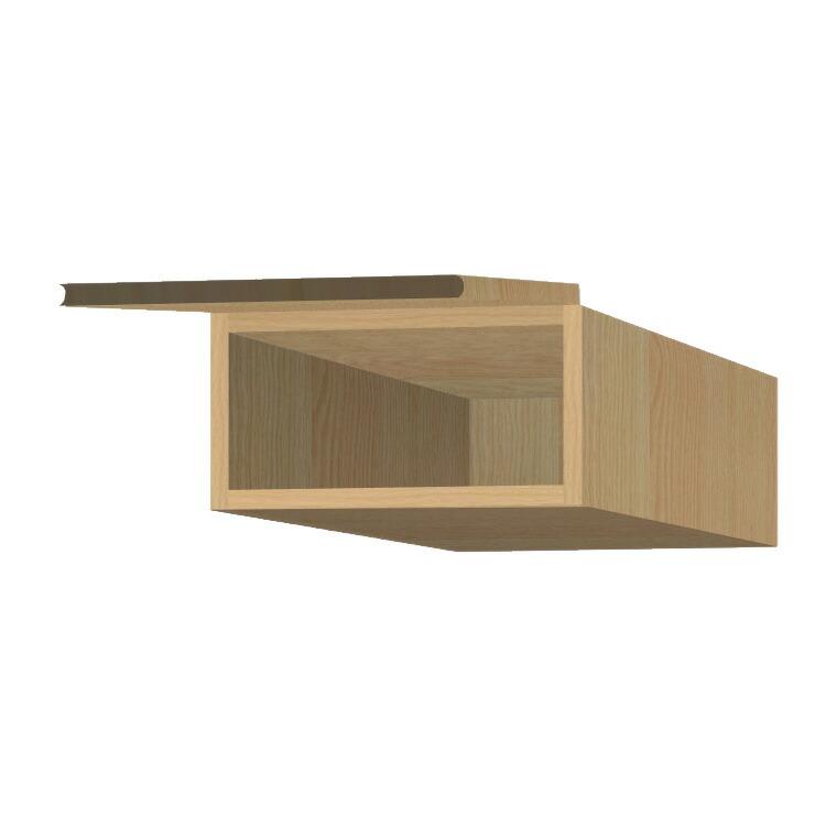 マテリア3 壁面収納 フィラーBOX TM D42/32 FB40 W400×H200~280×D420/320mm 【すえ木工】【Materia3】