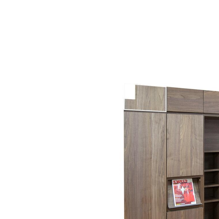 マテリア3 壁面収納 マジックフィラー上置き用 TM UWMF H36-59 L/R W70~450×H360~590×D15mm 【すえ木工】【送料無料】【Materia3】