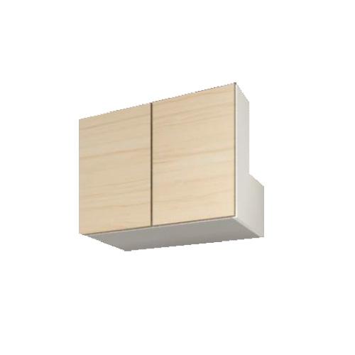 すえ木工 Mgver.3 HB80 (L) 梁避けボックス(対応高600-890) 壁面収納 W800 D470 H600-890