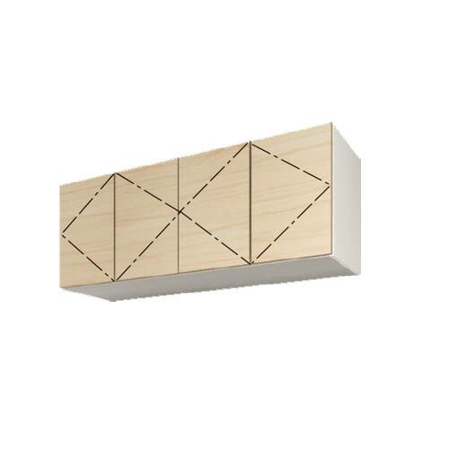 壁面収納 セミオーダー すえ木工 MGver3 上置用 キャビネット 送料無料 【送料無料】 すえ木工 Mgver.3 UW160 (L) 標準上置き(対応高600-890) 壁面収納 W1600 D470/320 H600-890